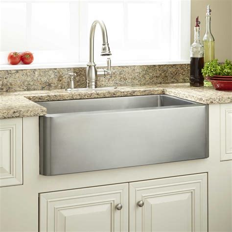 Stainless Steel Farm Sinks For Kitchens 27 Quot Hazelton Stainless Steel Farmhouse Sink Kitchen