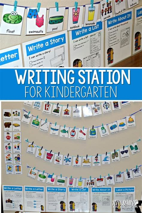 Writing Template For Cards Kindergarten by Writing Station The Complete Set Writing Centers Work