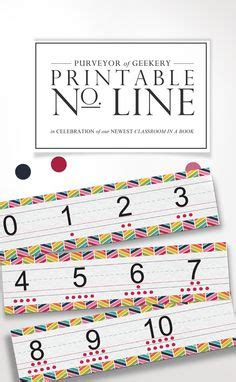 printable number line bulletin board printable number line to laminate so students can write