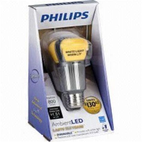 Lu Philips 12 Watt philips ambient led 12 watt medium base light bulb 409904