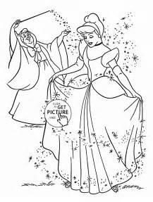 princess cinderella coloring kids disney princess coloring pages printables free