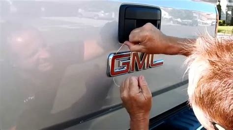 how to remove gmc emblem from grill truck emblem removal removing the gmc badge