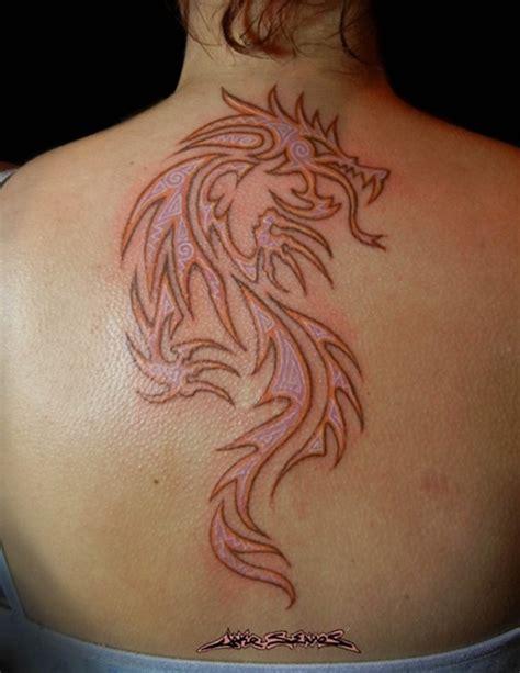 dragon tattoo back female 54 women dragon tattoos collection