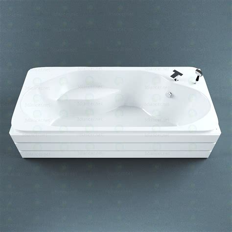vasca da bagno acrilico modello 3d acrilico vasca da bagno 3dlancer net
