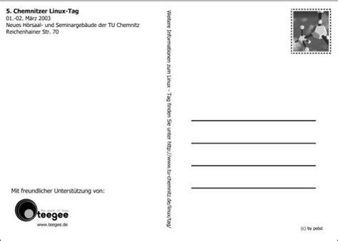 Postkarten Drucken Chemnitz by 5 Chemnitzer Linux Tag