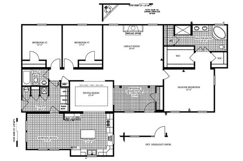 manufactured home floor plan manufactured home floor plan 2005 clayton colony bay 33cob42643mm05
