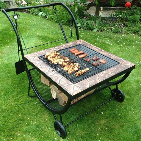 backyard fire pit grill multifunction bbq grill rack fire pit patio heater log