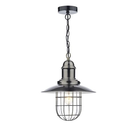Dar Pendant Lights Ter0161 Dar Pendant Terrace Antique Chrome Insulated