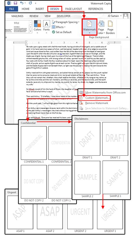 watermark template microsoft word watermarks how to customize them for