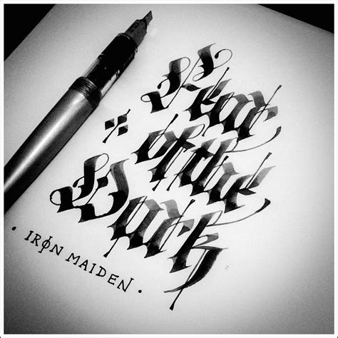 gothic calligraphy amp lettering on behance