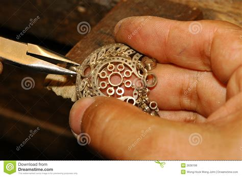 Craftsman Gold Jewelry Royalty Free Stock Images