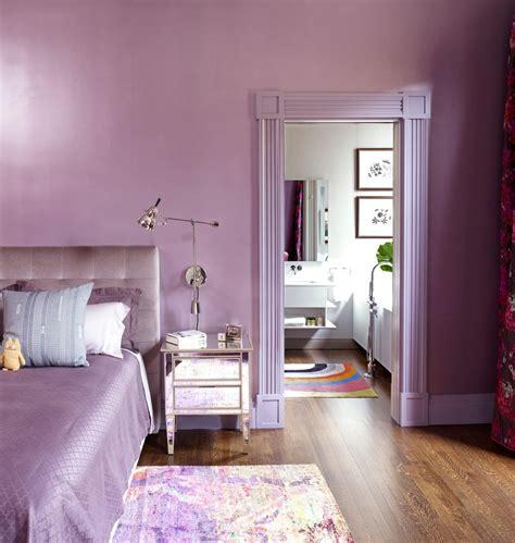 Color purple color or lavender bedding sets for simple design bedroom