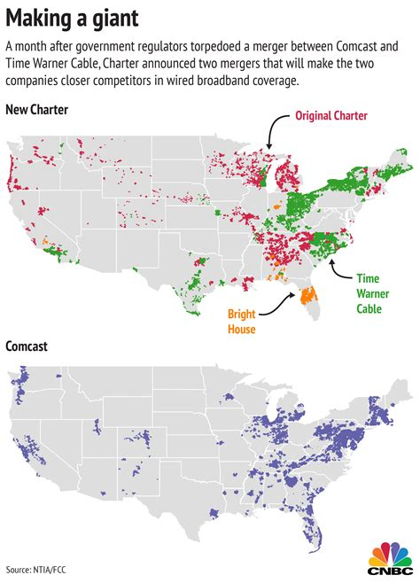 time warner coverage map new charter to comcast s broadband footprint