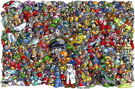 Rok Free Size 1 Classic Megaman 1987 To 2003 By Msipher On Deviantart