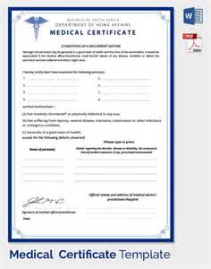 8 best images of doctor certificate templates medical 8