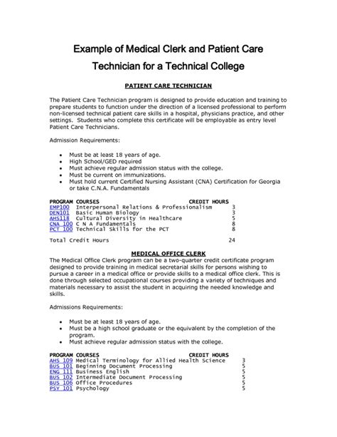 13 patient care technician description for resume resume patient care technician