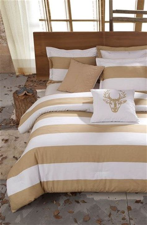 tan and white bedding love the tan white striped bedding http rstyle me n pf6fhnyg6 my own turkey hill