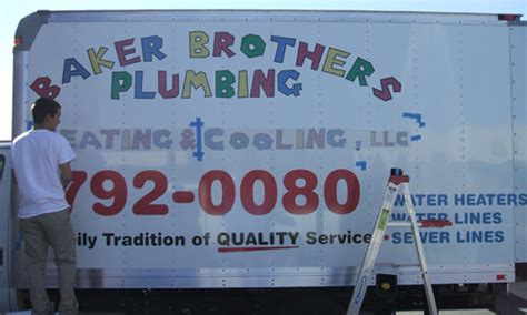 Baker Brothers Plumbing Tucson new install of baker brothers plumbing truck innovative