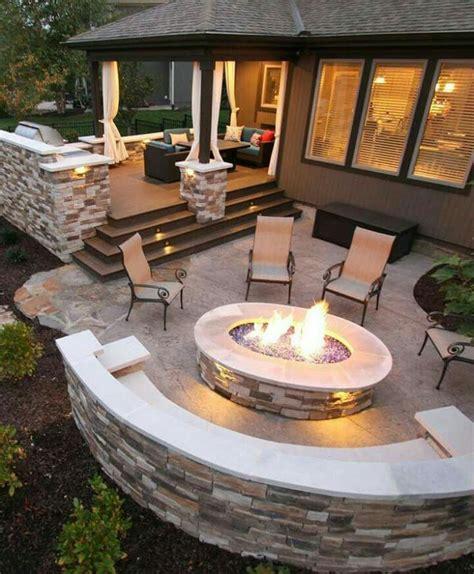 backyard patio cost las 25 mejores ideas sobre fogatas caseras en pinterest