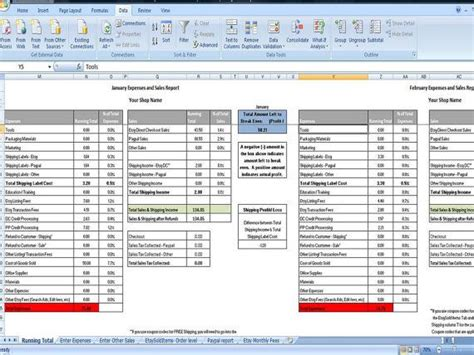 Sales And Expenses Spreadsheet by 17 Best Images About Organizing On Home Binder