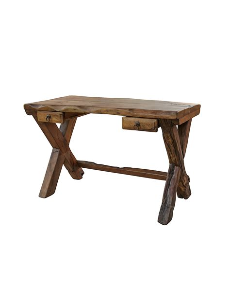 Harbow Live Edge Rustic Desk Luxury Rustic Furniture Rustic Desk