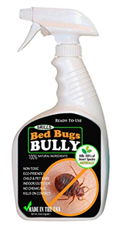 natural bed bug repellent for skin bed bugs bully 32oz organic non toxic bed bug killer spray