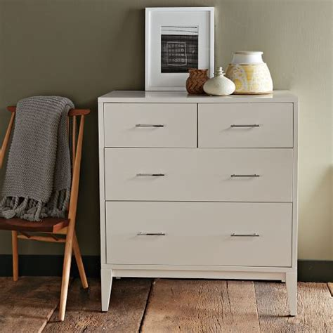 west elm modern white dresser narrow leg 4 drawer dresser white west elm