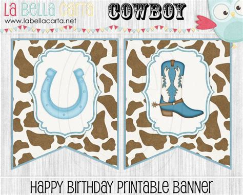 printable cowboy birthday banner 167 best images about cowboy party printable on pinterest