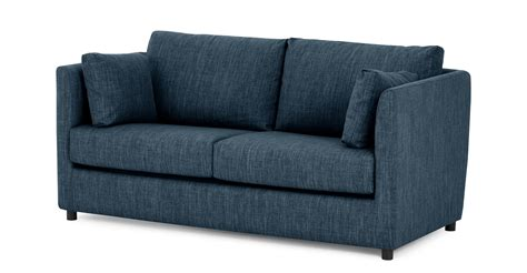 sofa bed memory foam milner sofa bed with memory foam mattress harbour blue