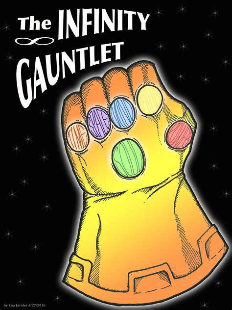 How To Draw Thanos Infinity Gauntlet