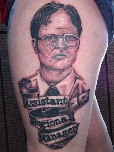 the office tattoos dwight schrute assistant regional manager if i