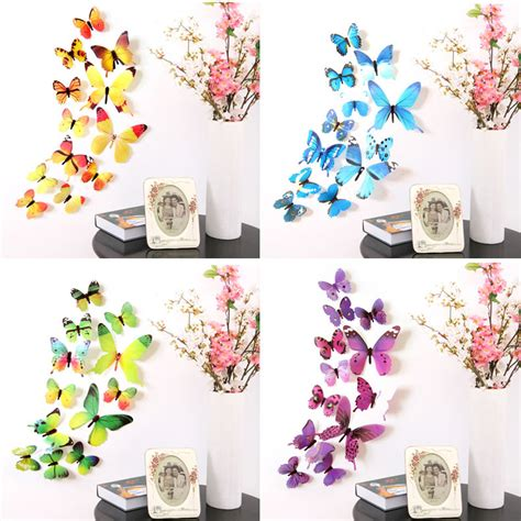 butterfly home decor 3d diy wall sticker stickers butterfly home decor room