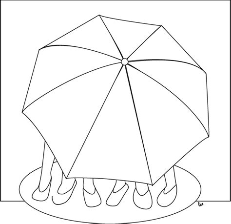 umbrella beach coloring pages