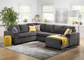 How To Place Sofa In Living Room Danielle 3 Sectional With Right Facing Corner Wedge Grey S