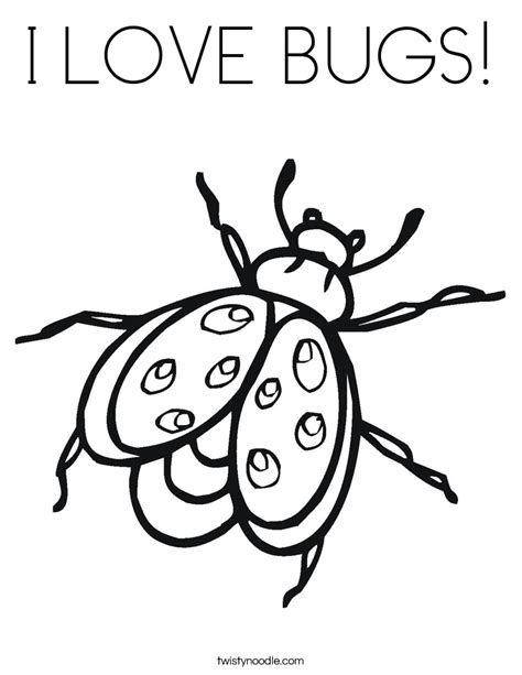 i love bugs coloring page twisty noodle