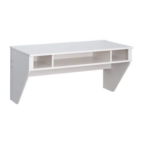 shop prepac furniture designer fresh white wall mounted desk at lowes com