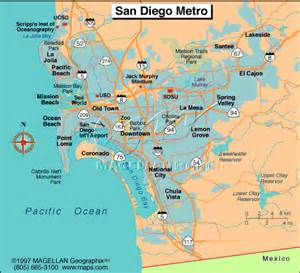 San Diego Area Map by California Map San Diego