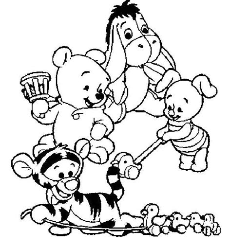 coloring pages of baby winnie the pooh and friends pin by nicole angel on drawing pinterest coloring the