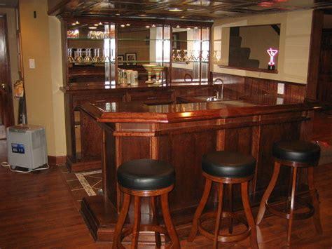 U Shaped Bar U Shaped Cherry Bar W Mahogany Top By Jaromin