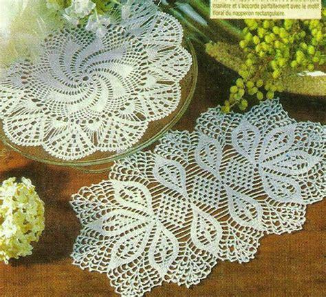 carpetas tejidas de gancho 2 carpetas tejidas al crochet crochet y dos agujas