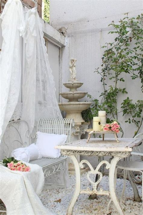 the new chic french 27 shabby chic terrace and patio d 233 cor ideas shelterness