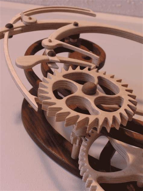 wood work wood clock plans build  wooden gear clocks