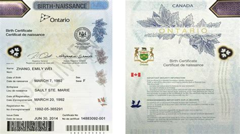 Birth Records Ontario Canada Province Delivers New Birth Certificates Sudbury