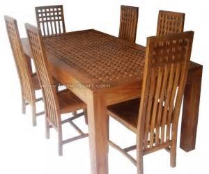 Meja Makan Balero Ukir Furniture Nakas Bufet Rak Meja Sofa set meja kursi makan minimalis balero kotak kayu jati