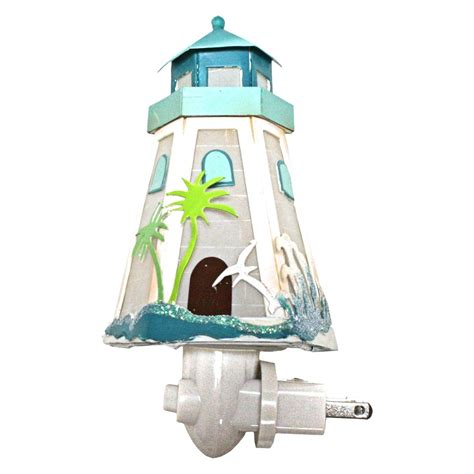 replacement solar light for lighthouse roman 42120 6 5 quot tropical lighthouse night light 6 5 quot h