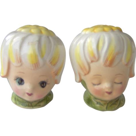 salt and pepper bun thumbelina honey bun girl salt and pepper shakers from