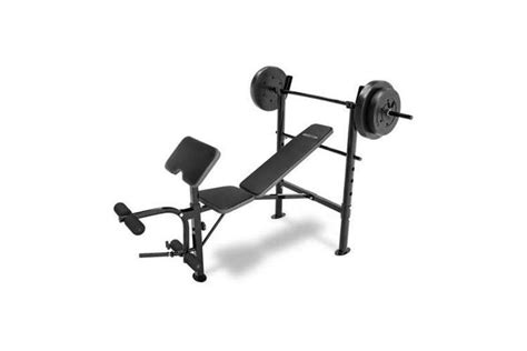 weight bench combo set competitor combo weight bench gym equipment with 80 lb set