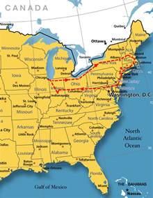 us east coast college map east coast trip icons