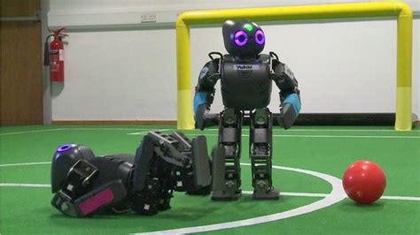 Robot Challenge Win 5000 For Your Robot Invention by Moving Around The Robot Footballers Hoping For A