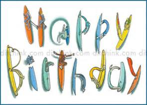 birthday card with surfboards surf and mirth by ditch ink